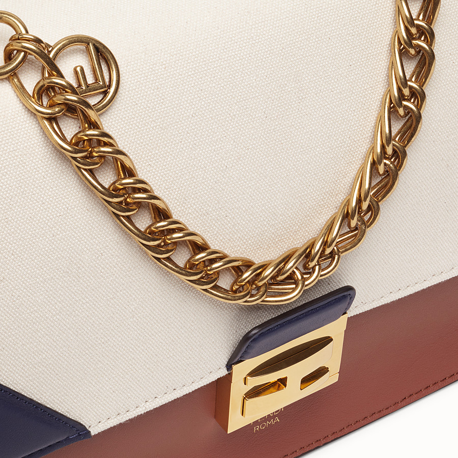 FENDI KAN U - Multicolour canvas and leather bag - view 5 detail