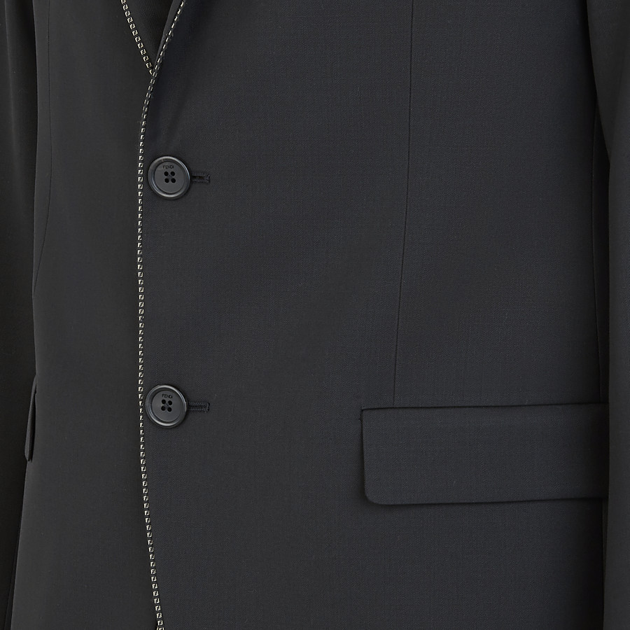 FENDI JACKET - Black wool blazer - view 3 detail