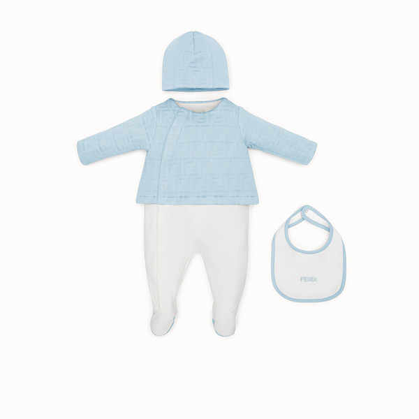 FENDI SET - Light blue cotton baby kit - view 1 small thumbnail