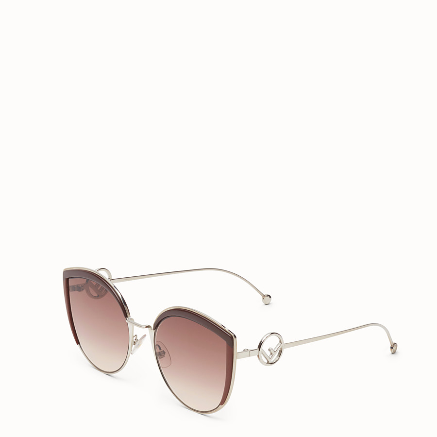 FENDI F IS FENDI - Palladium-color sunglasses - view 2 detail