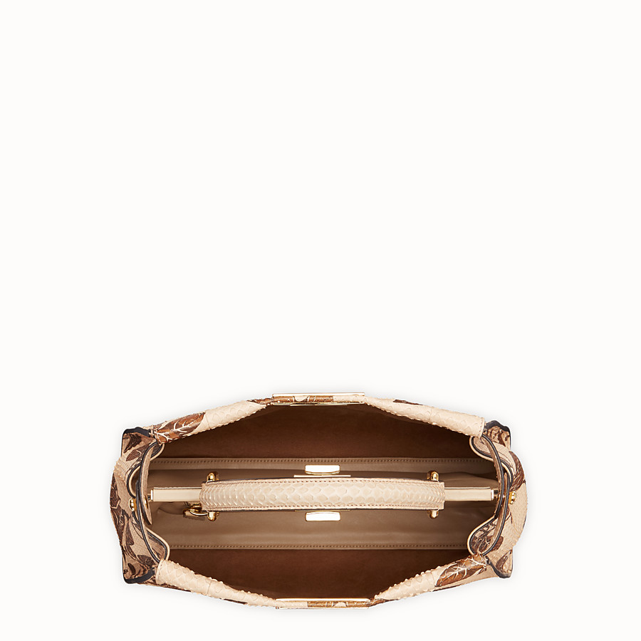 FENDI PEEKABOO REGULAR - Beige python bag - view 4 detail