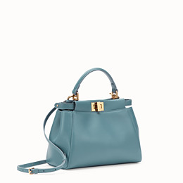 FENDI PEEKABOO ICONIC MINI - Tasche aus Leder in Blau - view 2 thumbnail