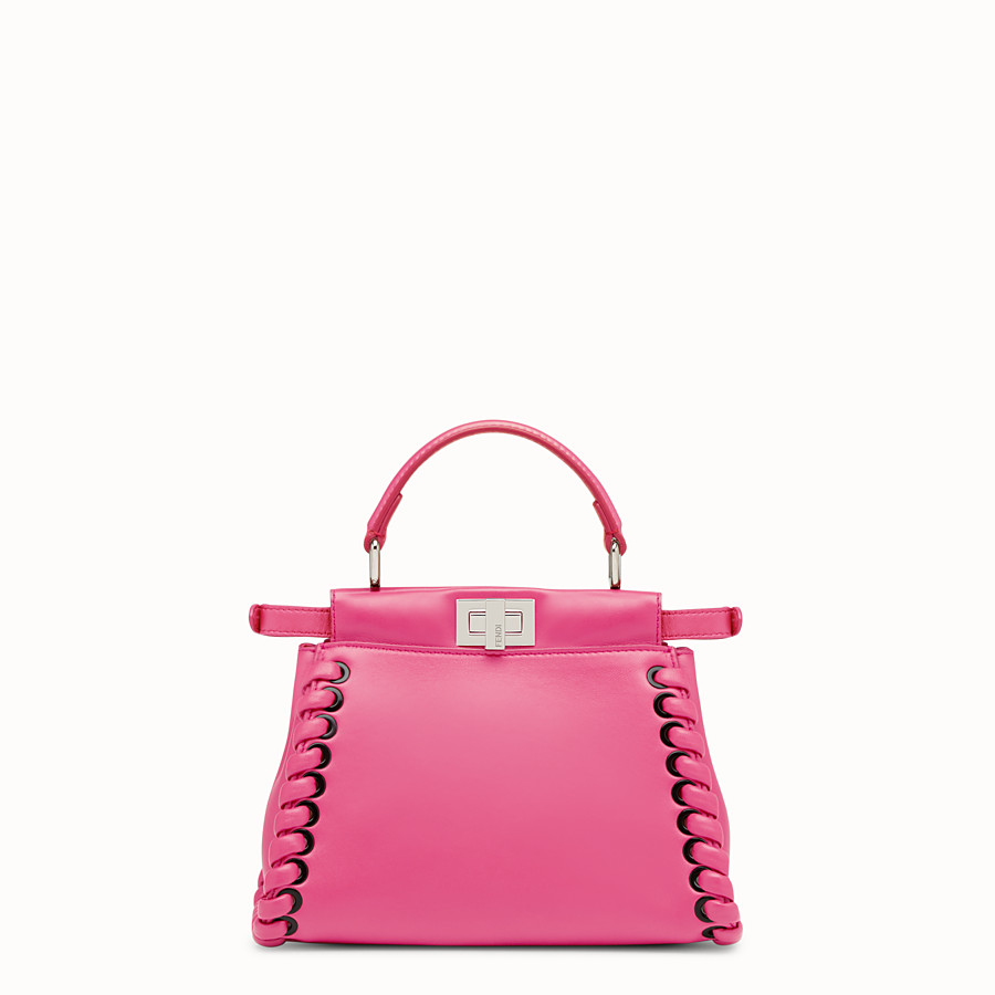 FENDI PEEKABOO MINI - Fuchsia leather bag - view 3 detail