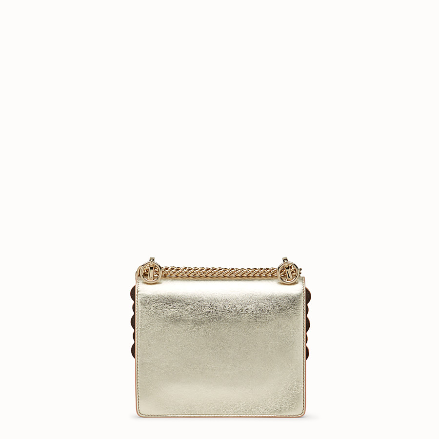FENDI KAN I SMALL - Gold leather mini-bag - view 3 detail