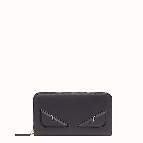FENDI WALLET - Black leather zip-around - view 1 small thumbnail