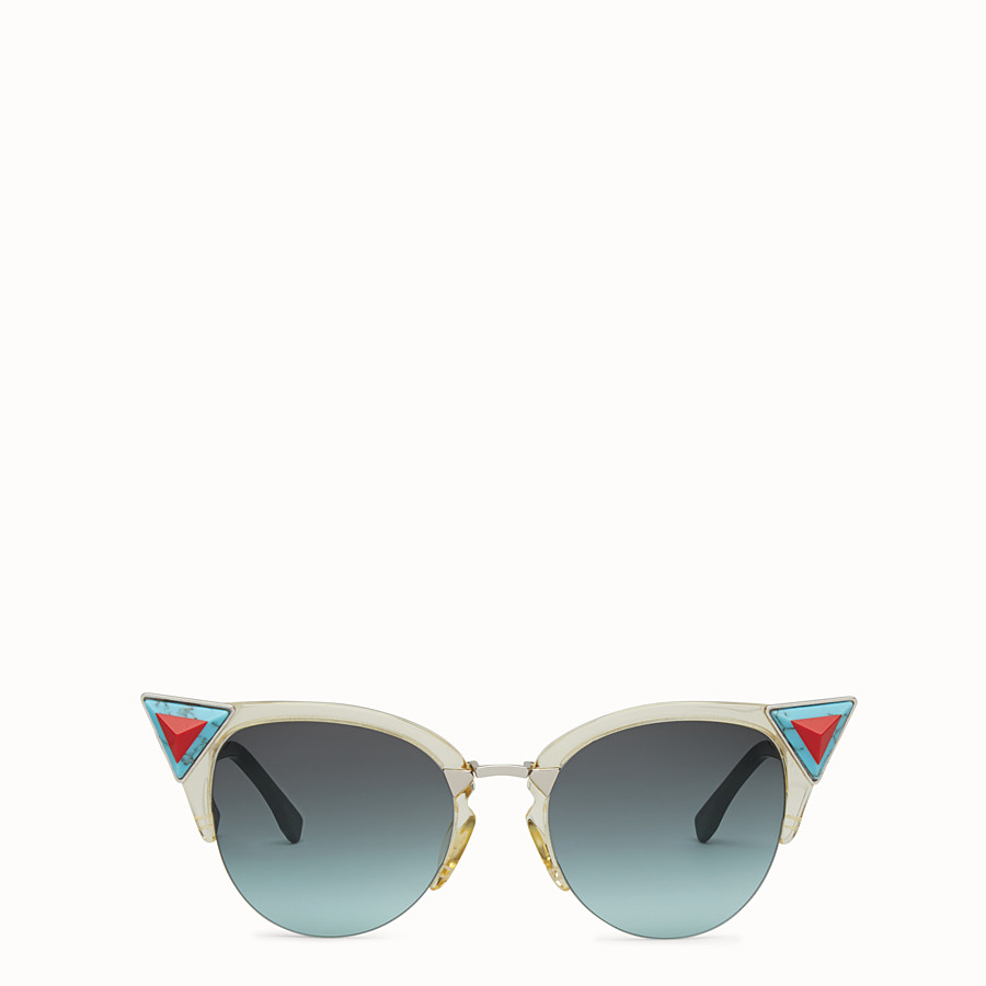 FENDI IRIDIA - Yellow sunglasses with stones - view 1 detail