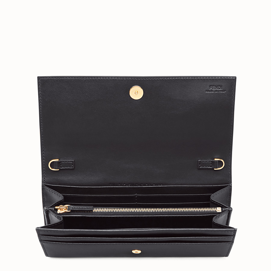FENDI CONTINENTAL WITH CHAIN - Wallet in black leather - view 4 detail