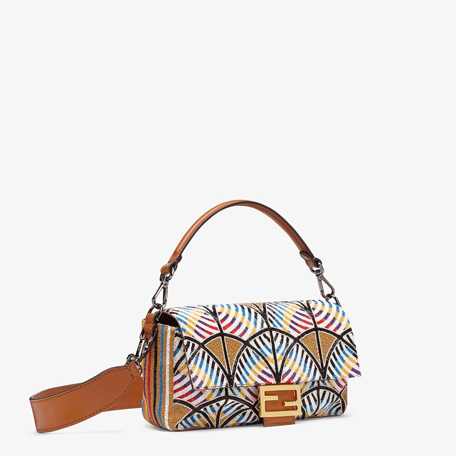 FENDI BAGUETTE - Tasche mit Stickerei Mehrfarbig - view 3 detail