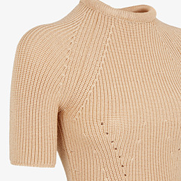 FENDI PULLOVER - Pullover aus Seide in Beige - view 3 thumbnail