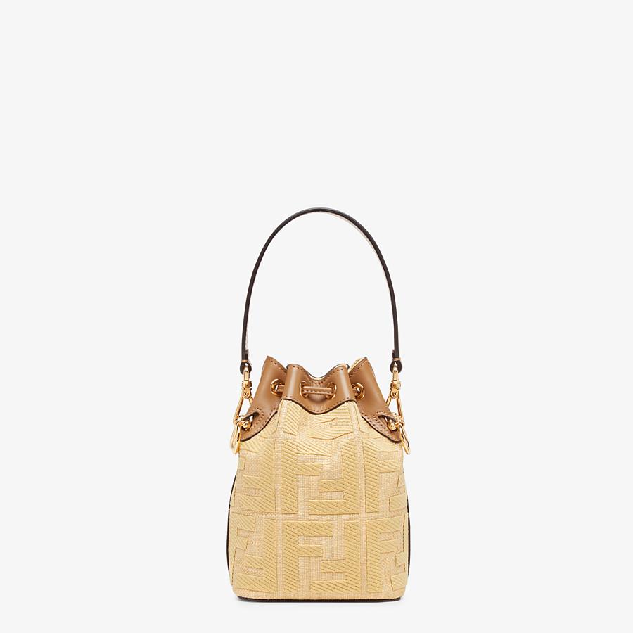 FENDI MON TRESOR - Beige raffia mini bag - view 4 detail
