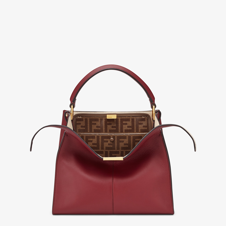 FENDI MEDIUM PEEKABOO X-LITE - Burgundy leather bag - view 1 detail
