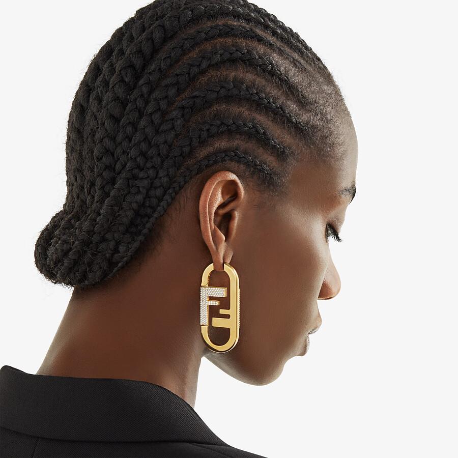 FENDI O'LOCK SINGLE EARRING - Gold-color earrings - view 2 detail