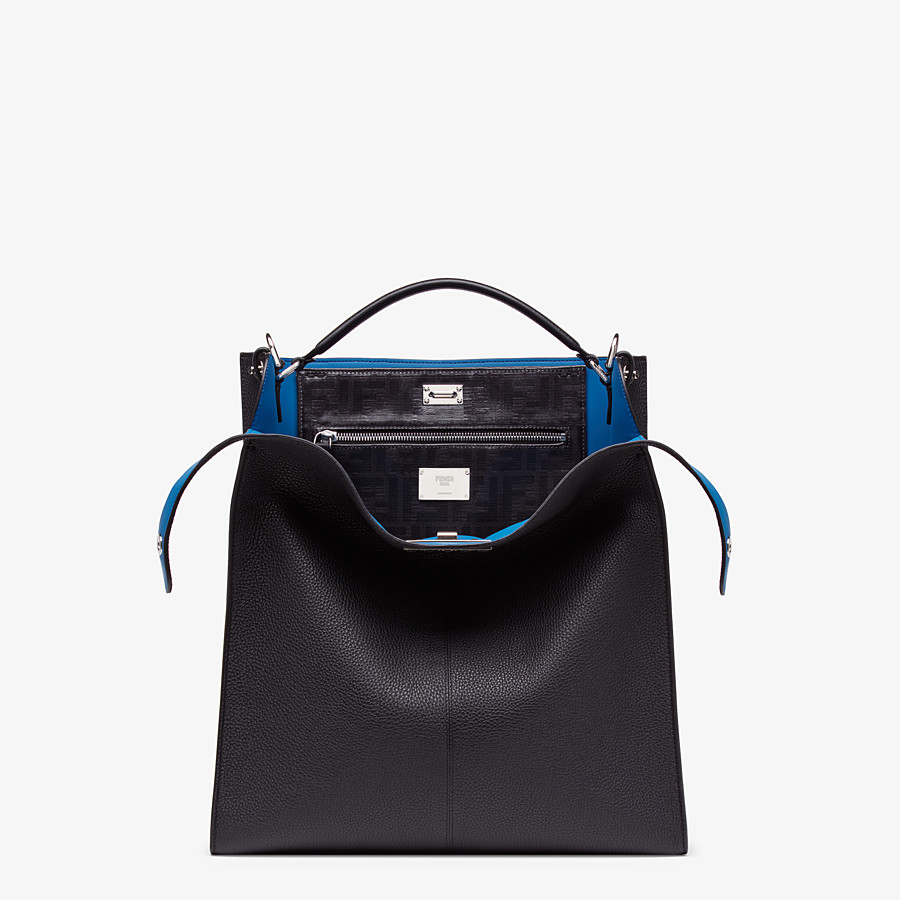FENDI PEEKABOO X-LITE FIT - Black, calf leather bag - view 1 detail