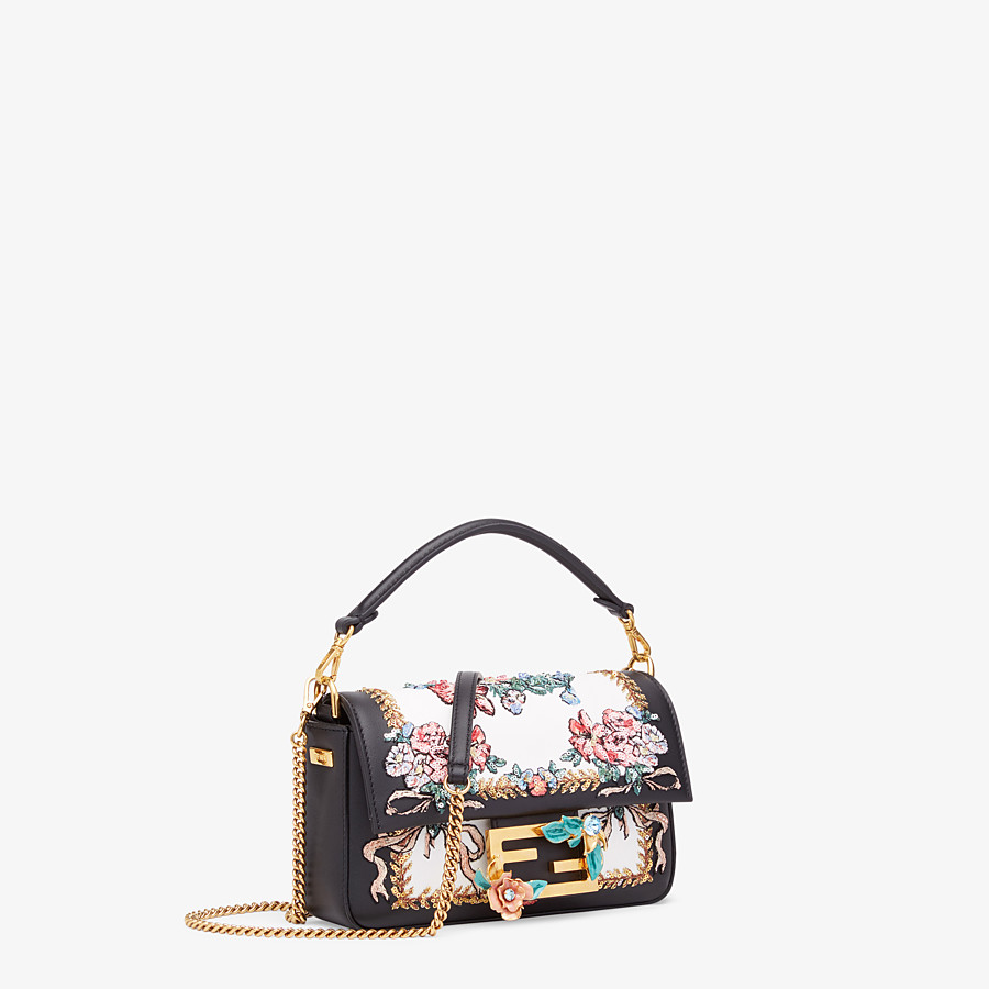 FENDI BAGUETTE MINI - Black leather bag - view 2 detail