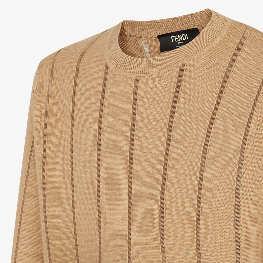 FENDI SWEATER - Brown wool sweater - view 3 detail
