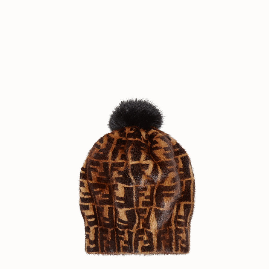 FENDI HAT - Brown mink hat - view 2 detail