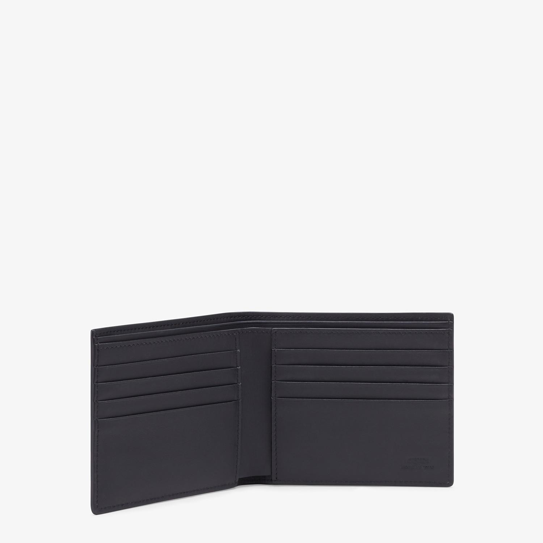 FENDI BI-FOLD WALLET - Black leather bi-fold wallet - view 3 detail