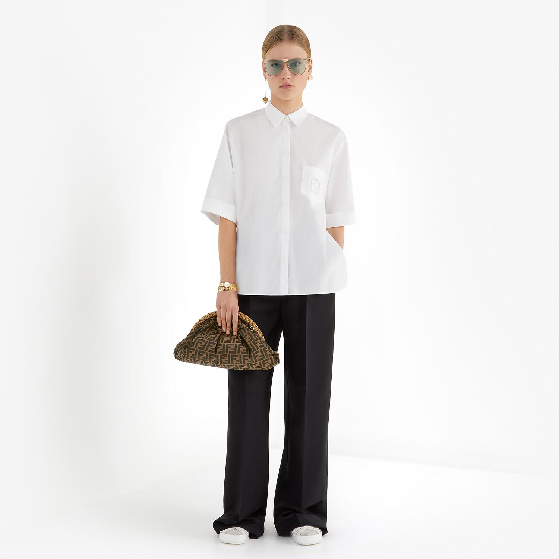 FENDI SHIRT - White poplin shirt - view 4 detail