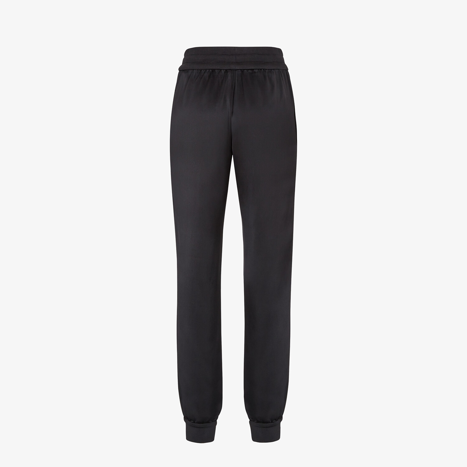 FENDI JUMPSUIT - Black satin sweatshirt and pants - view 5 detail