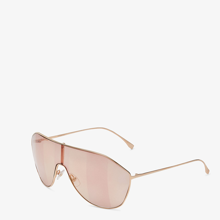 FENDI FF FAMILY - Metal sunglasses with Pequin motif - view 2 detail