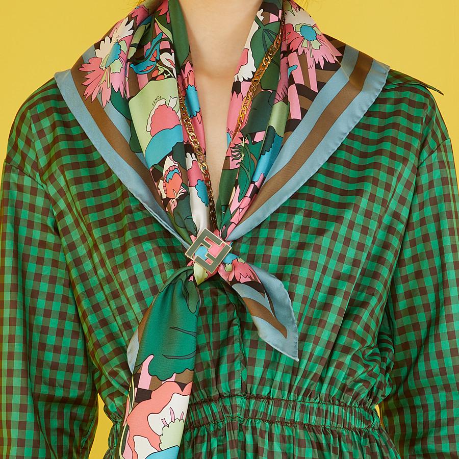 FENDI FOULARD FLOWERS - Foulard in seta multicolor - vista 3 dettaglio