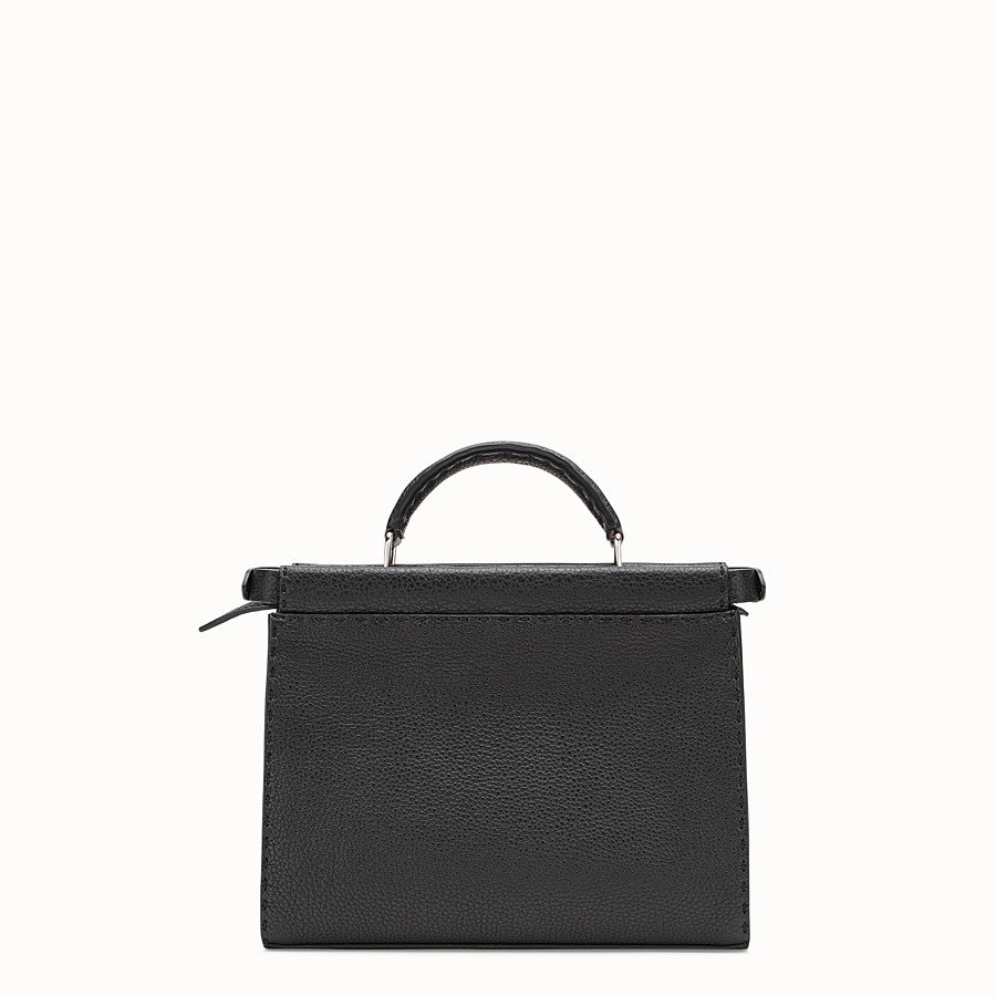 FENDI MINI PEEKABOO FIT - Black leather bag - view 3 detail