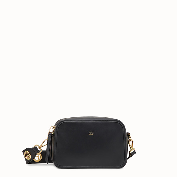 FENDI CAMERA CASE - Borsa in pelle nera - vista 1 thumbnail piccola