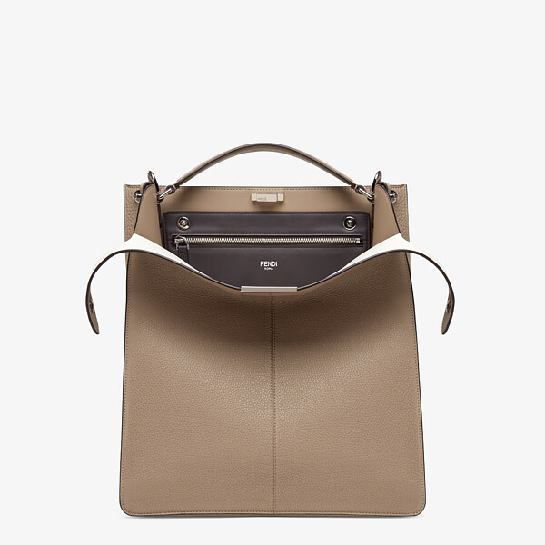 Beige leather bag