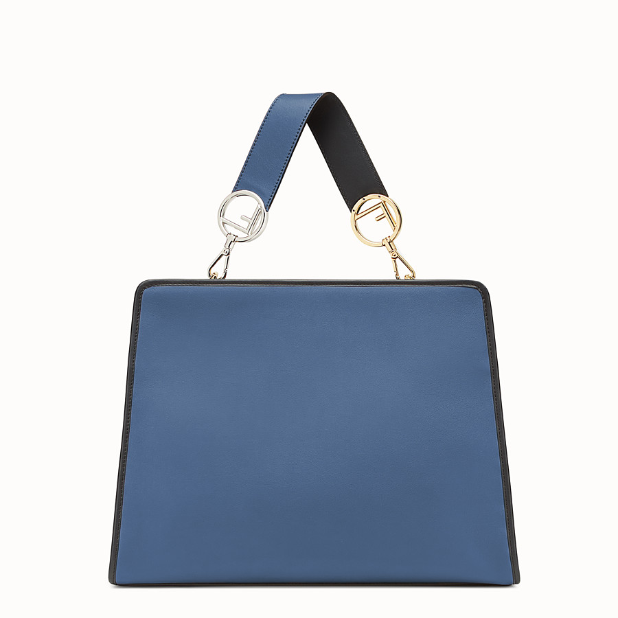 FENDI RUNAWAY REGULAR - Blue leather bag - view 3 detail
