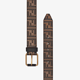 FENDI BELT - Brown leather belt - view 2 thumbnail