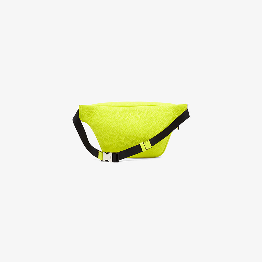 FENDI BABY BELT BAG - Yellow leather belt bag - view 2 detail