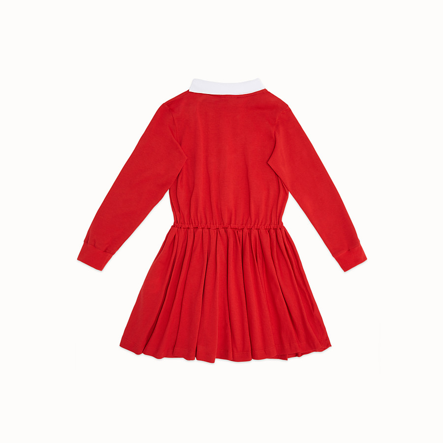 FENDI DRESS - Red jersey dress - view 2 detail