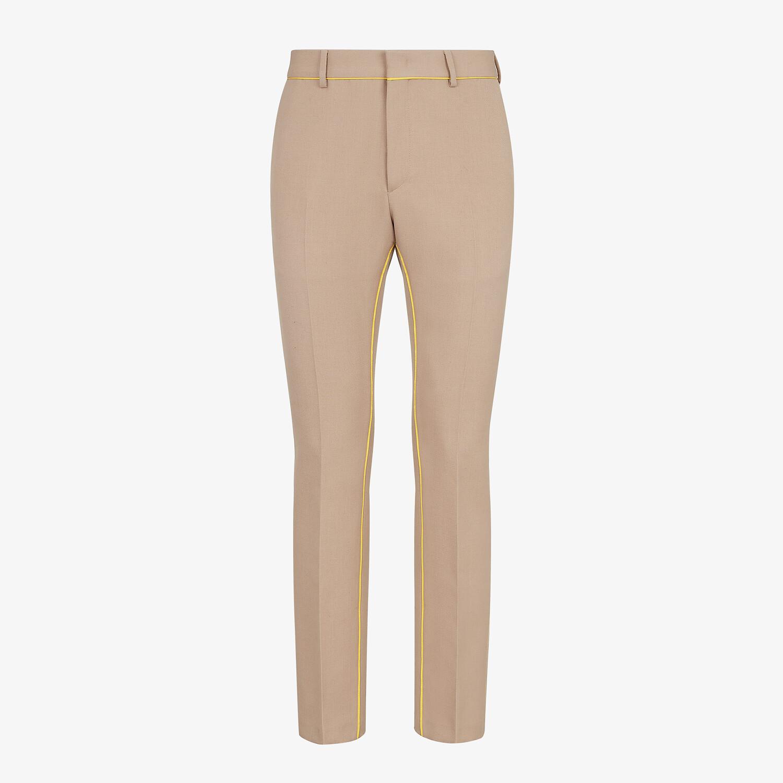 FENDI PANTS - Beige wool pants - view 1 detail