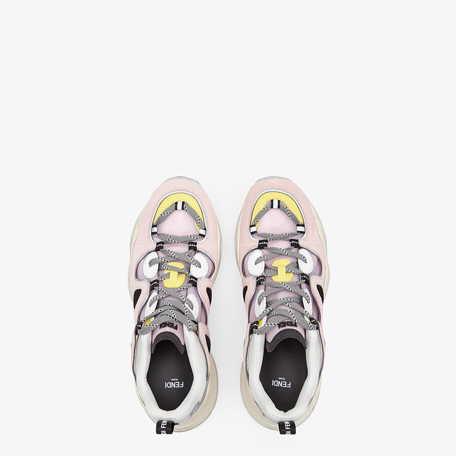 FENDI SNEAKERS - Multicolor suede and tech mesh sneakers - view 4 detail