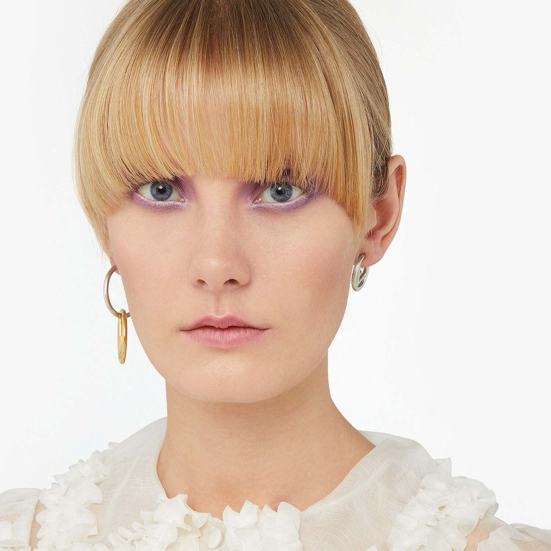 FENDI F IS FENDI EARRINGS - Silver-colored earring - view 6 detail