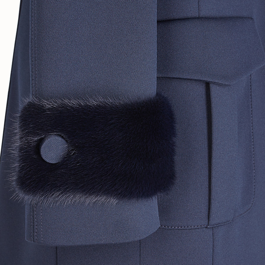 FENDI JACKET - Blue jersey jacket - view 3 detail