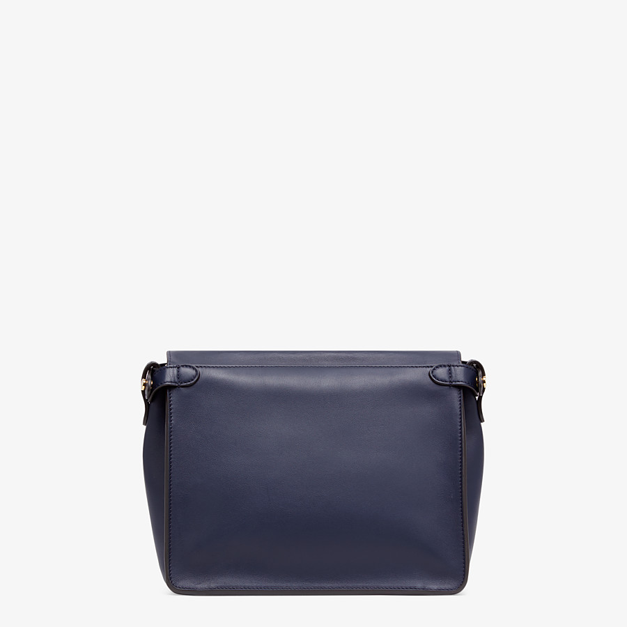 FENDI FENDI FLIP MEDIUM - Dark blue leather bag - view 4 detail