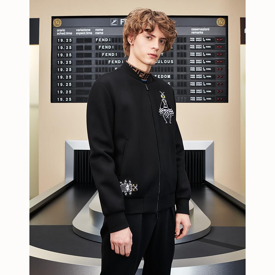 FENDI BLOUSON JACKET - Black neoprene jacket - view 4 detail