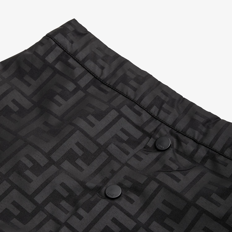 FENDI JUNIOR SKIRT - Matt black nylon junior skirt - view 3 detail