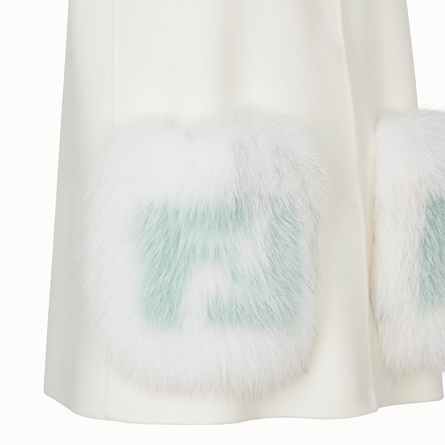 FENDI GILET - White wool gilet - view 3 detail