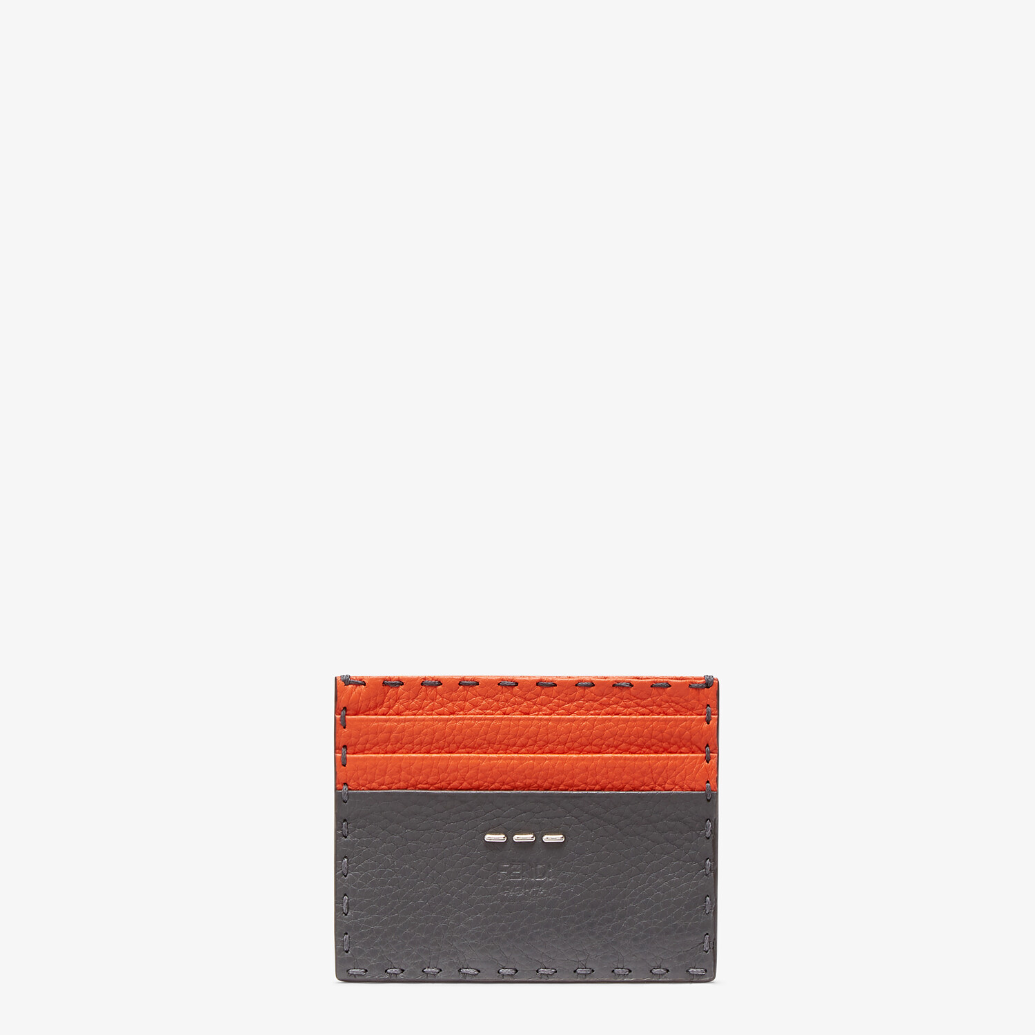 FENDI CARD HOLDER - Multicolor leather card holder - view 1 detail