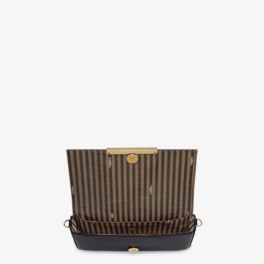 FENDI WALLET ON CHAIN WITH POUCHES - Black leather mini-bag - view 6 detail