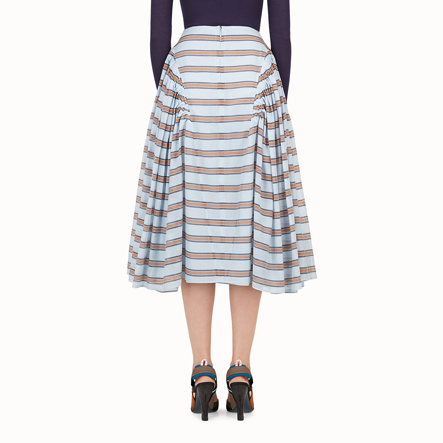 FENDI SKIRT - Light blue silk and cotton skirt - view 2 detail
