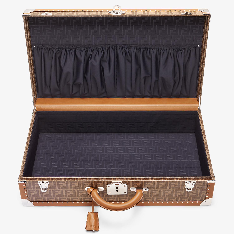 FENDI RIGID SUITCASE LARGE - Brown fabric suitcase - view 4 detail