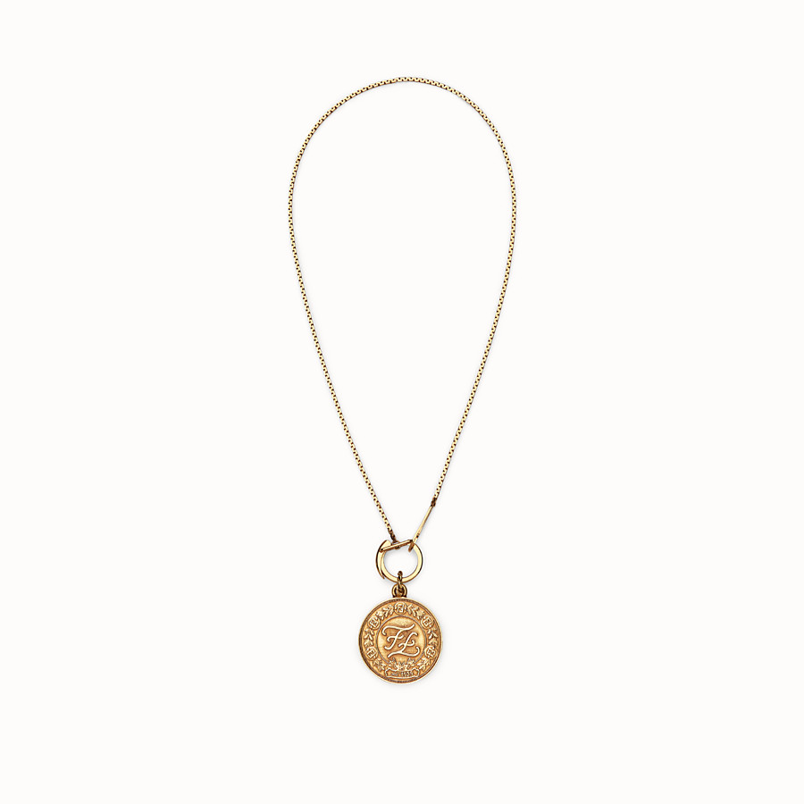 FENDI KARLIGRAPHY NECKLACE - Gold-color necklace - view 1 detail