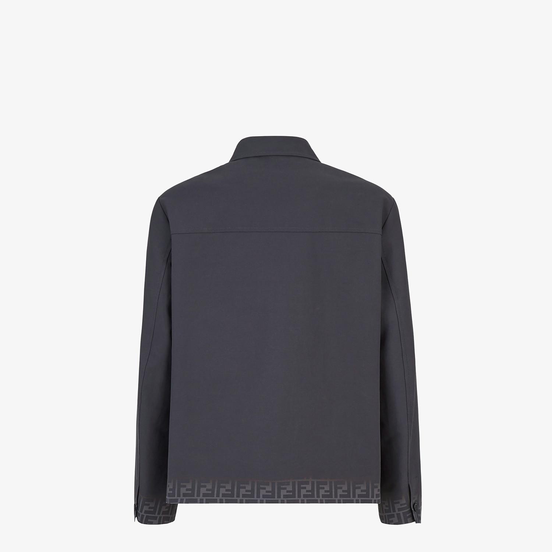 FENDI CARCOAT - Black gabardine jacket - view 2 detail