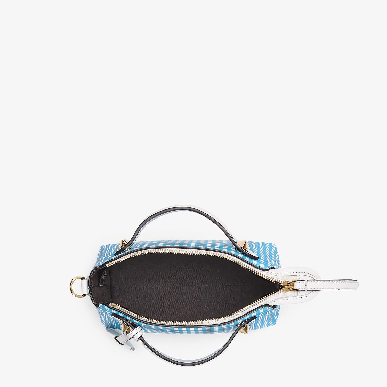 FENDI BY THE WAY MINI - Leather Vichy print Boston bag - view 4 detail