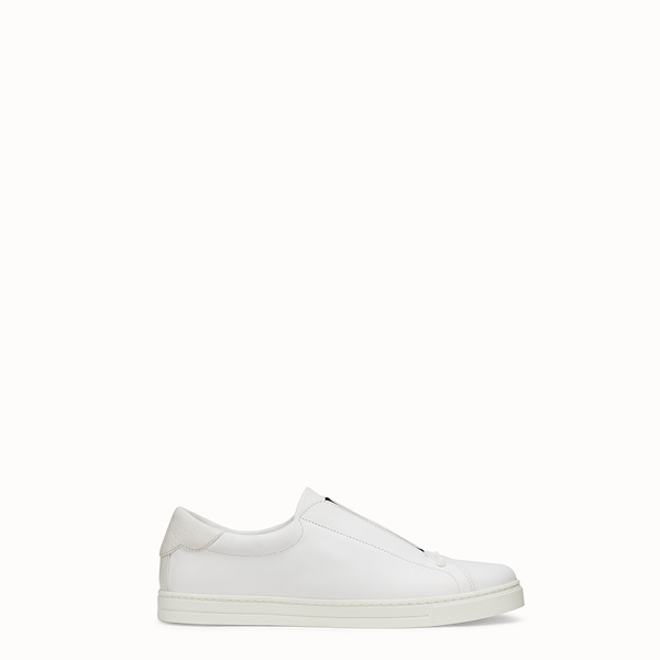 FENDI SNEAKERS - Chaussures sans lacets en cuir blanc - view 1 small thumbnail
