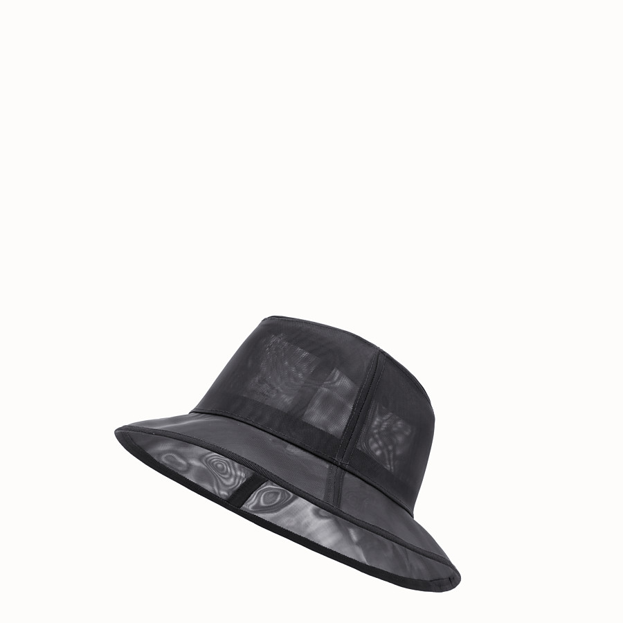 FENDI HAT - Black micro mesh hat - view 1 detail