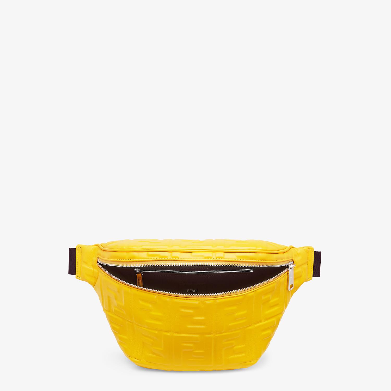 FENDI BELT BAG - Yellow nappa leather belt bag - view 4 detail